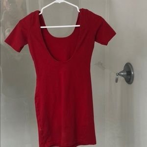 Red dress from American Apparel